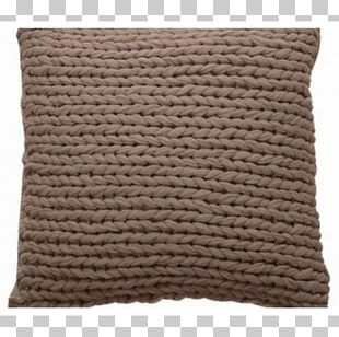 Throw Pillows Cushion Taupe Brown Wool PNG