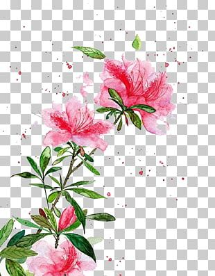 Watercolor: Flowers Watercolor Painting Chinese Art Landscape Painting PNG