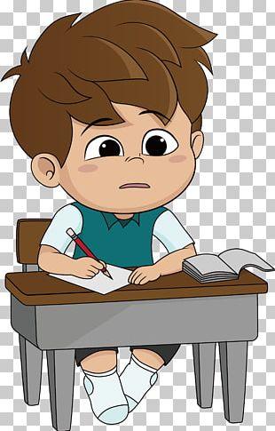 Cartoon Homework Illustration PNG