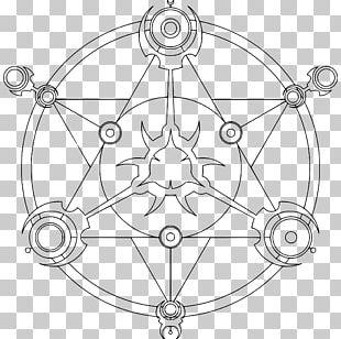Magic Circle Line Art PNG