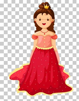 Red Dress Princess PNG