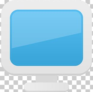 Blue Computer Monitor Angle Font PNG
