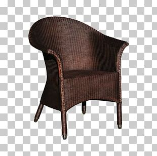 Chair Garden Furniture Wicker Armrest PNG