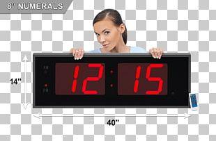 Alarm Clocks Display Device Digital Clock Light-emitting Diode PNG