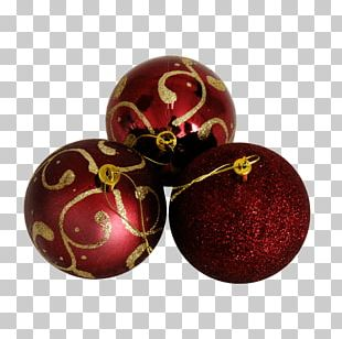 Natal Christmas Ornament Ball Red PNG