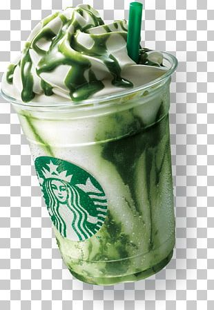 White Chocolate Matcha Starbucks Frappuccino Drink PNG