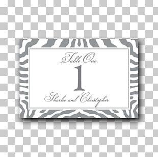 Zebra Place Cards Label Wedding Number PNG