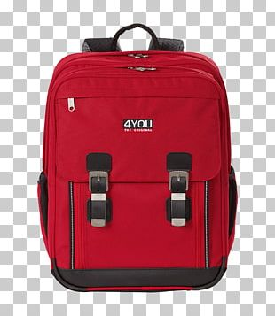 Backpack Red Baggage Satchel PNG