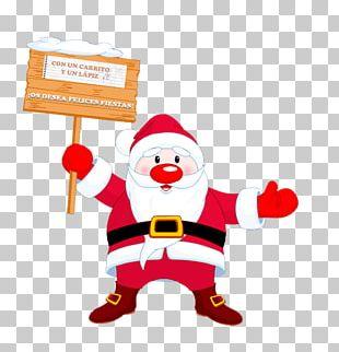 Santa Claus Christmas Tree Gift Happiness PNG