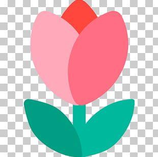 Emoji Tulip Flower Sticker Text Messaging PNG