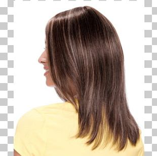 Layered Hair Wig Step Cutting Hair Coloring PNG