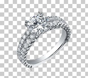 Silver Ring With Diamond Jewelry PNG