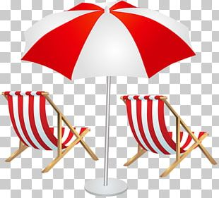 Eames Lounge Chair Umbrella Beach PNG