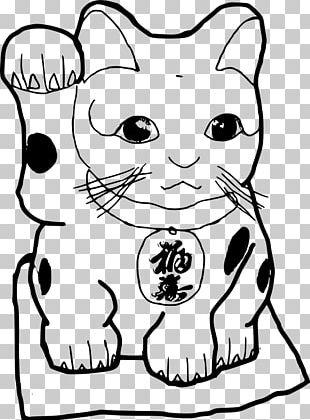 Cat Maneki-neko Drawing Line Art PNG
