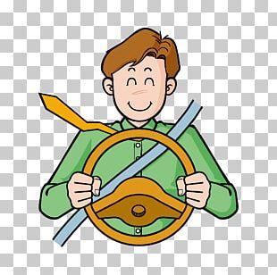 Driver Cartoon Poster PNG