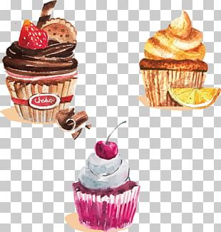 Cupcake Chocolate Cake Bakery Painting PNG