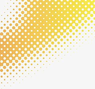 Yellow Gradient Background Dot Size PNG
