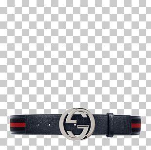 Webbed Belt Gucci Leather Belt Buckle PNG