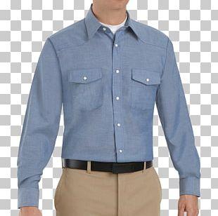 Sleeve Dress Shirt Button Pocket PNG