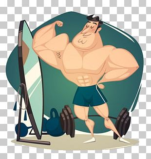 Muscle Cartoon Physical Fitness PNG
