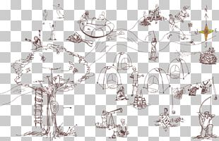 Summer Camp Camping Tent Sketch PNG