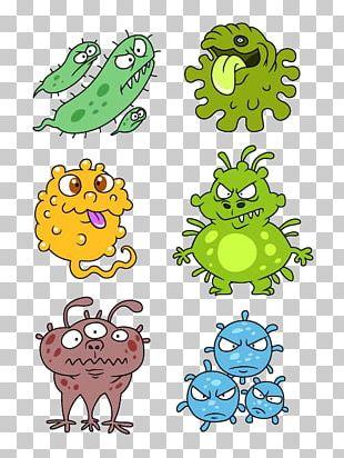 Cartoon Bacteria Virus PNG