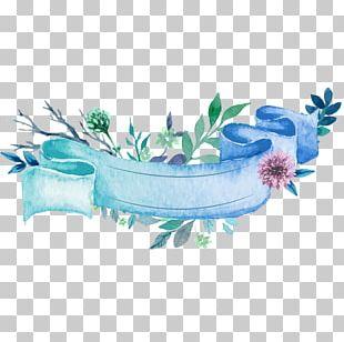 Wedding Invitation Paper Ribbon Watercolor Painting PNG