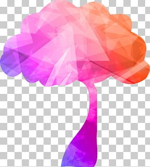 Poster Tree Geometry PNG