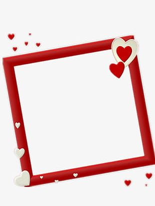 Beautiful Heart-shaped Frame PNG