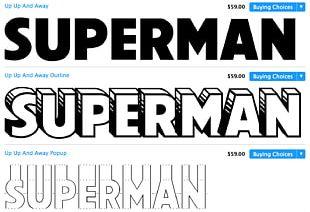 Superman Typeface Superhero Font PNG
