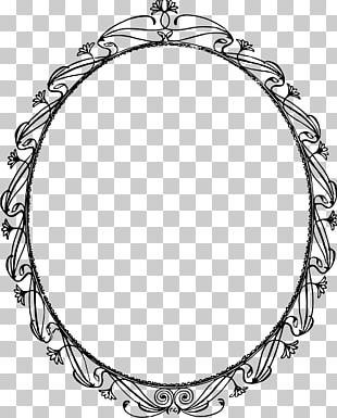Frames Oval Necklace Chain PNG