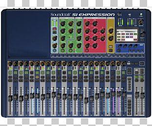 Audio Mixers Digital Mixing Console Soundcraft Si Expression 3 Soundcraft Si Expression 2 PNG