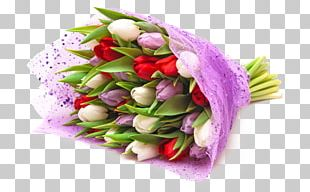 Flower Bouquet Tulip Garden Roses Paper PNG