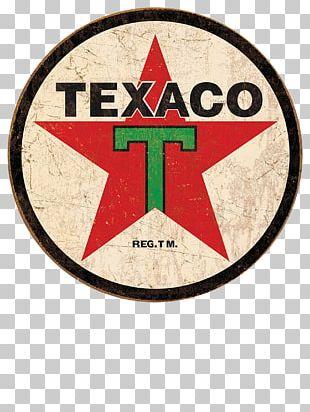 Emblem Texaco 1936 Logo Reproduction Round Distressed Retro Vintage Tin Sign Shop72 PNG