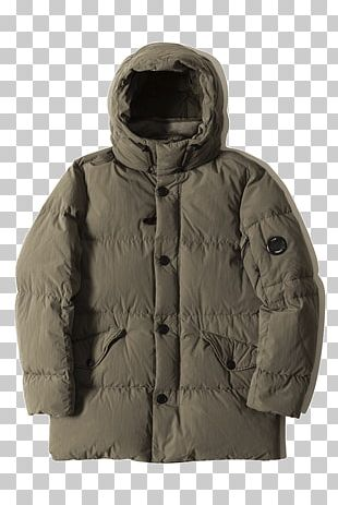 Hood Down Feather Goggle Jacket C.P. Company PNG