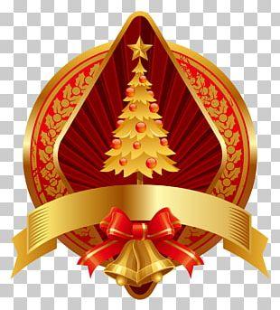 Gold Christmas Ornament Jingle Bell Illustration PNG