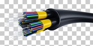Optical Fiber Cable Electrical Cable Fiber-optic Communication PNG