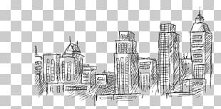 Drawing Architecture Skyline Sketch PNG
