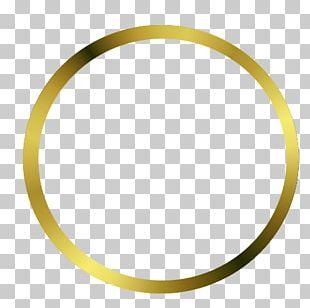 Frames Gold Disk Oval PNG
