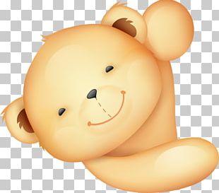 Teddy Bear Manic Monday Cartoon Illustration PNG