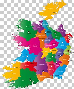 Counties Of Ireland World Map PNG