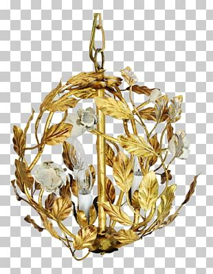 Chandelier Gold Christmas Ornament Ceiling PNG
