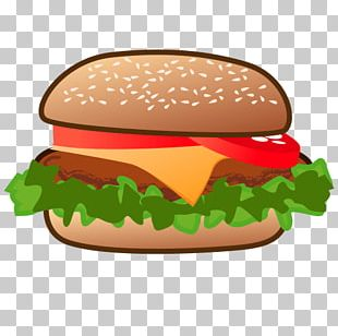 Hamburger Cheeseburger French Fries Emoji Veggie Burger PNG