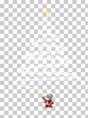 Santa Claus Yellow Christmas Pattern PNG
