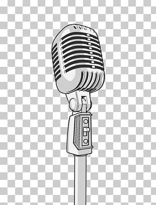 Microphone Wall Decal Sticker PNG