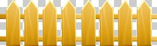 Picket Fence Yellow Wood Angle PNG