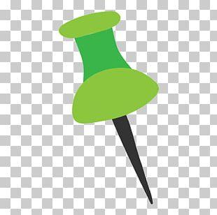 Drawing Pin Green Computer File PNG