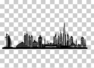 Dubai Silhouette Skyline PNG