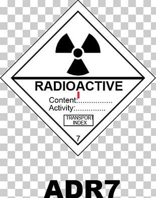 HAZMAT Class 7 Radioactive Substances Dangerous Goods Sticker Label Radioactive Decay PNG