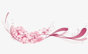 Pink Flowers Lace PNG